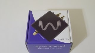 First Look: Wyred4Sound µDAC-HD headphones amp/DAC unboxing