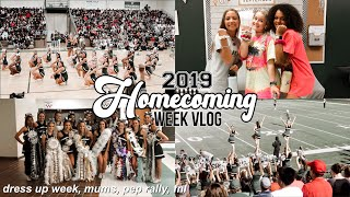 Homecoming Week Vlog 2019 | dress up week, texas hoco mums, pep rally, fnl