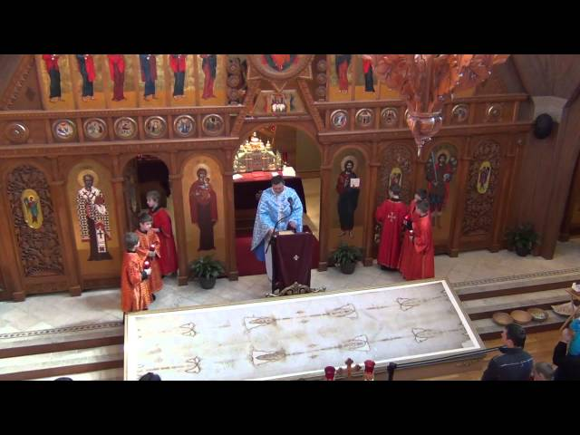 Mass at St. Michael the ArchAngel Ukrainian Catholic Church April 7, 2013