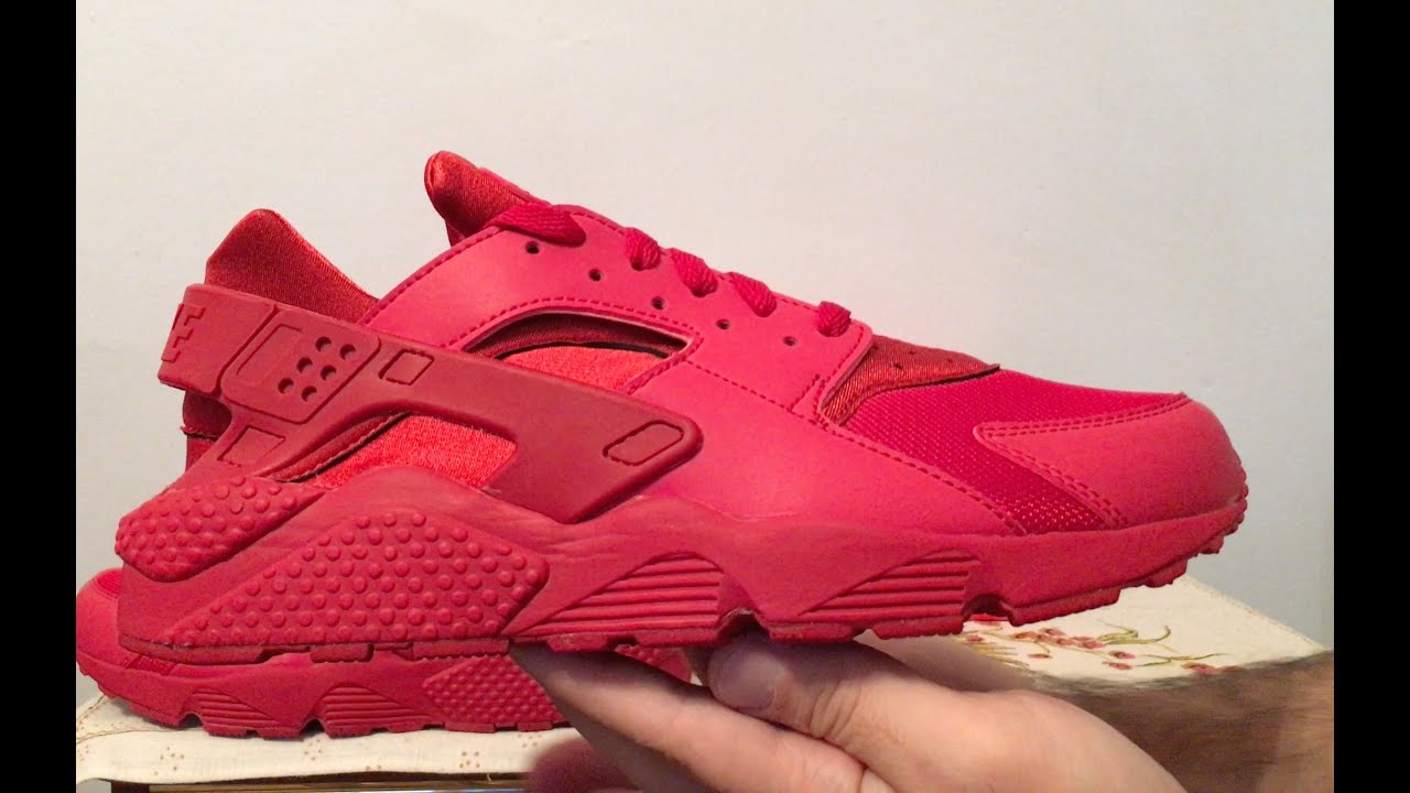 5c80f9325d18 ... Nike Air Huarache Triple Red sneakers - YouTube ...