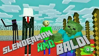 MONSTER SCHOOL VS SLENDERMAN FEAT BALDI - Minecraft Animation - Monster School