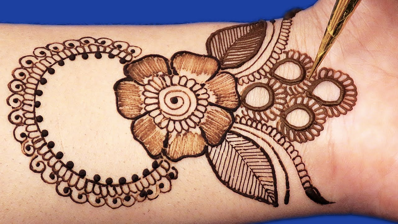Mehndi Designs For Hands Red : Latest d ornamental mehndi design for hands easy