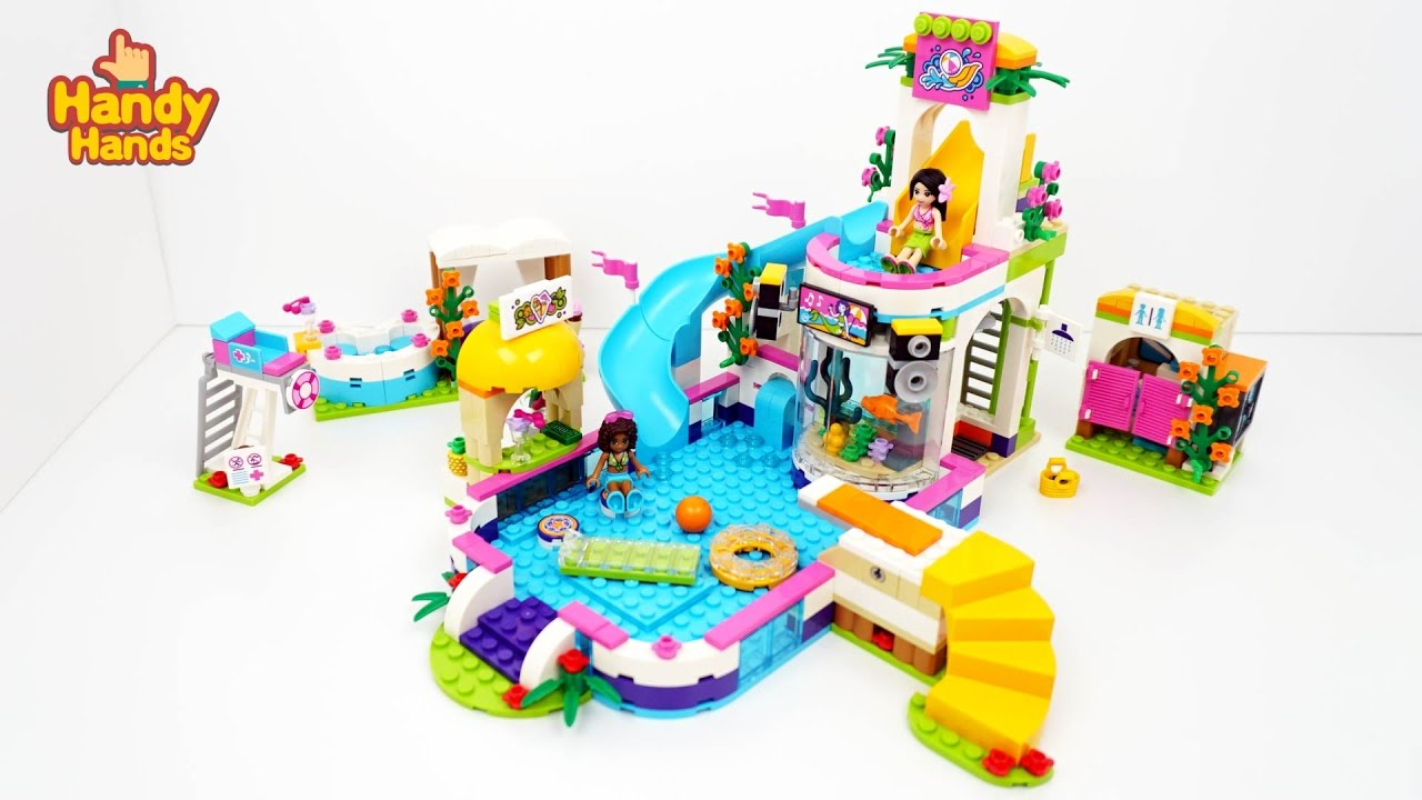Lego Friends 41313 Heartlake Summer Pool Speed Build Review