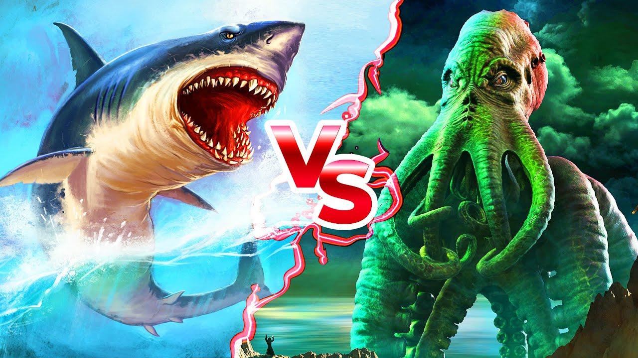 Megalodonte VS Kraken: Chi Vincerebbe? - YouTube