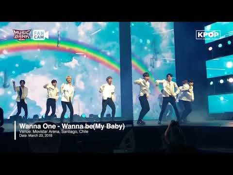 [Music Bank In Chile] WANNA ONE - Wanna Be (My Baby) 180323 Fancam