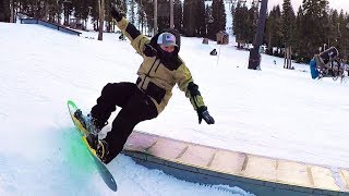 THIS WENT BADLY! (Learning to snowboard) Video