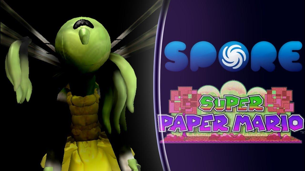 Spore Mimi Speedbuild Super Paper Mario Youtube