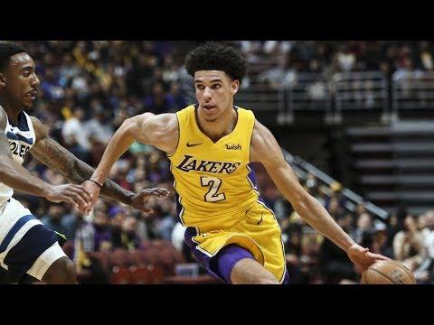 Lonzo Ball's Preseason Debut! New Nike Jersey's Rip! NBA Preseason 2017
