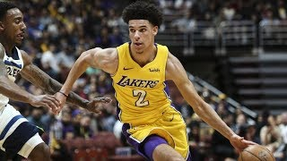 Lonzo ball's preseason debut! new nike jersey's rip! nba preseason 2017