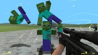 Garry's mod fun with Minecraft Mobs!