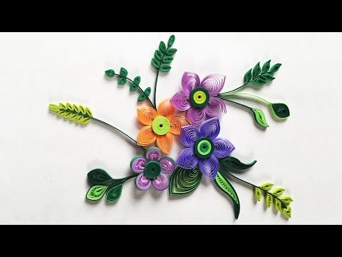 How To Make Small Paper Flower With Paper Strips | Quilling Made Easy