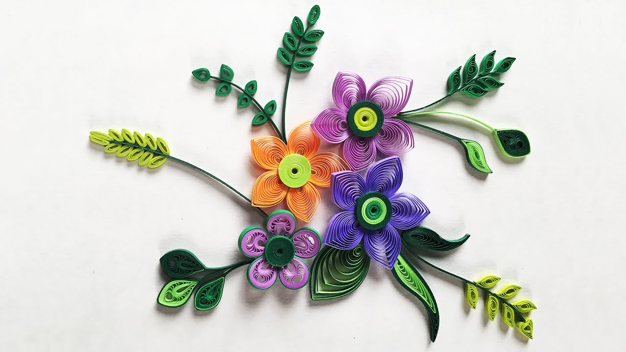 How To Make Small Paper Flower With Paper Strips Quilling Made