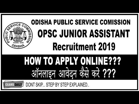 How To Apply OPSC Junior Assistant 2019 OPSC Junior Assistant Recruitment 2019 apply Online