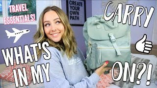 What's In My Carry On? + Travel Essentials!