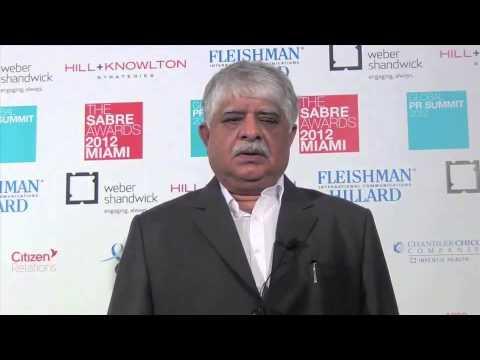 Madan Bahal at the Global PR Summit