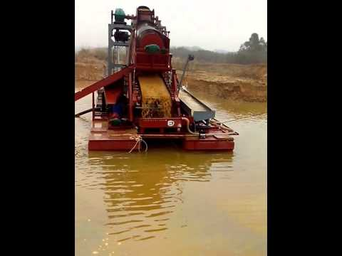 gold dredger/gold mining machine/ Sand processing machinery popular in Africa market