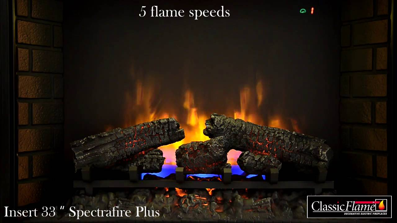 classic flame electric insert 33