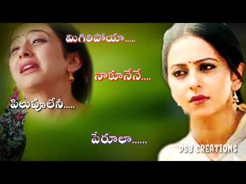 Migilipoya Naku Nenee Song Full Screen Telugu Whatsapp Status Video | DSB Creations