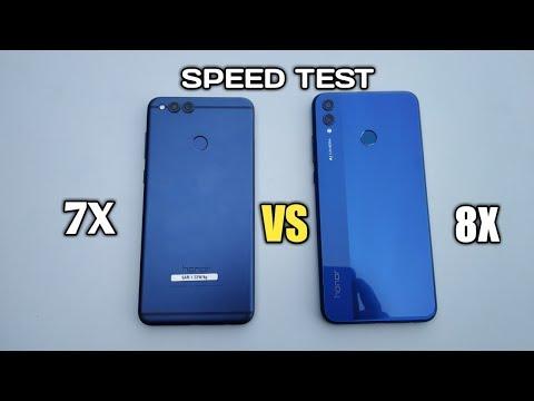 HONOR 7X VS HONOR 8X   SPEED TEST!!