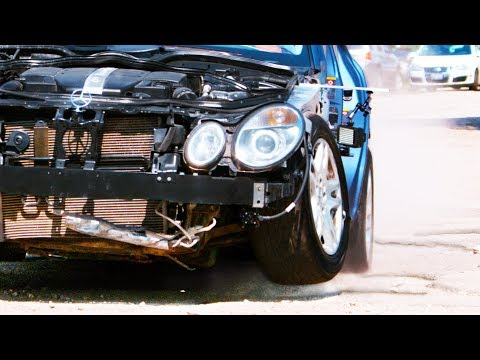 Hitting Huge Potholes Too Fast In Slow Motion - The E-Class STC Slow Motion- 4K