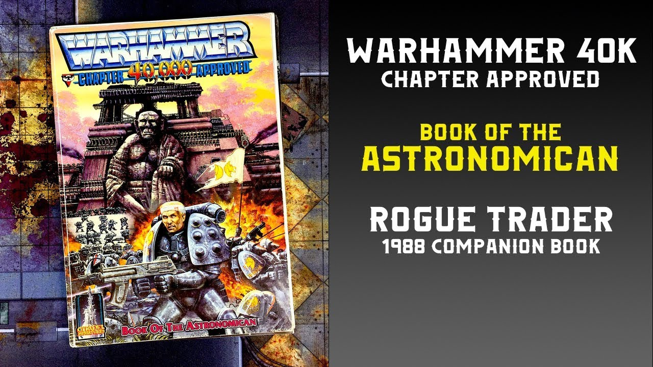 Warhammer 40K Book of the Astronomican 1988 Rogue Trader