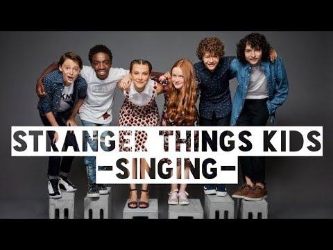 Stranger Things Kids -singing-