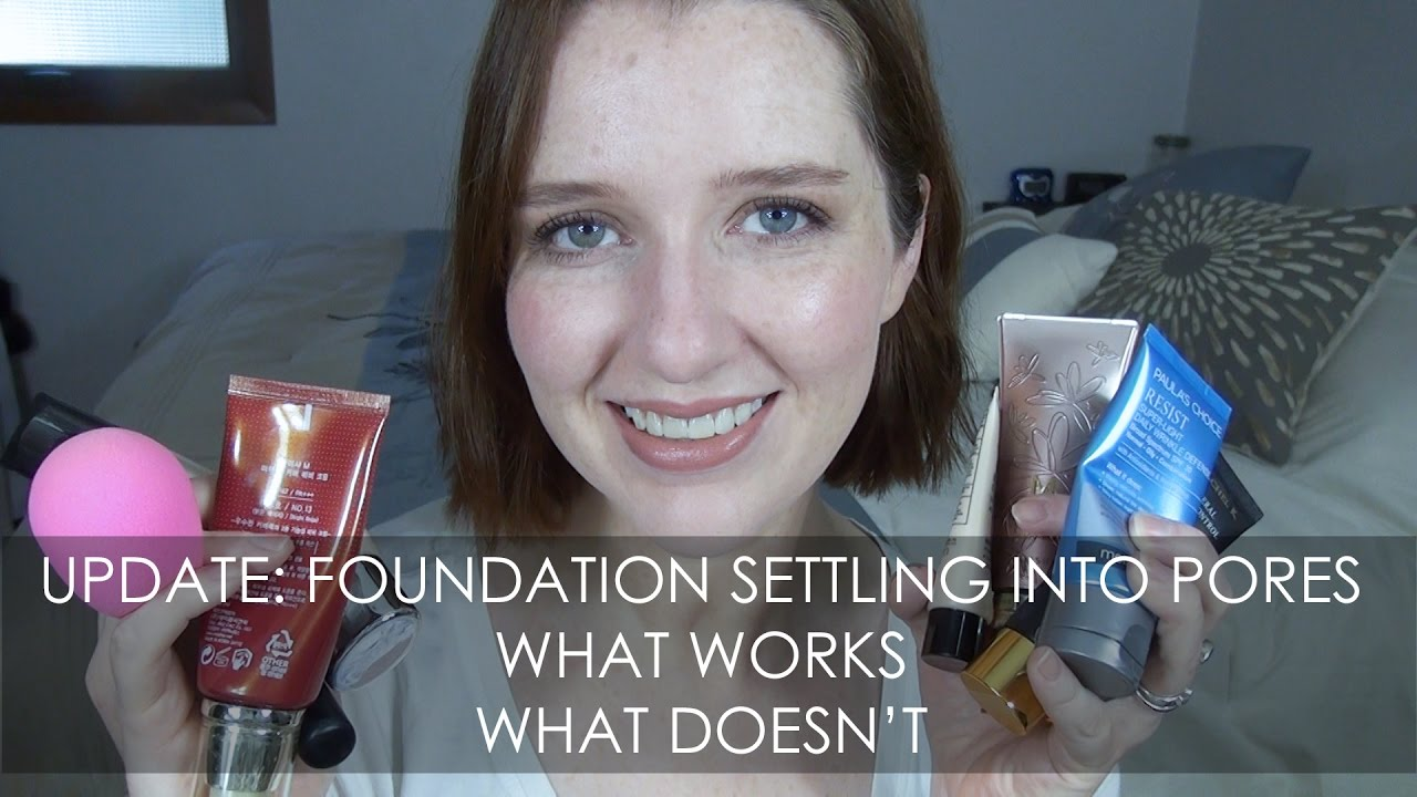 Foundation settles into pores