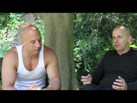 Vin Diesel and Neal H. Moritz Fast & Furious 7 meeting