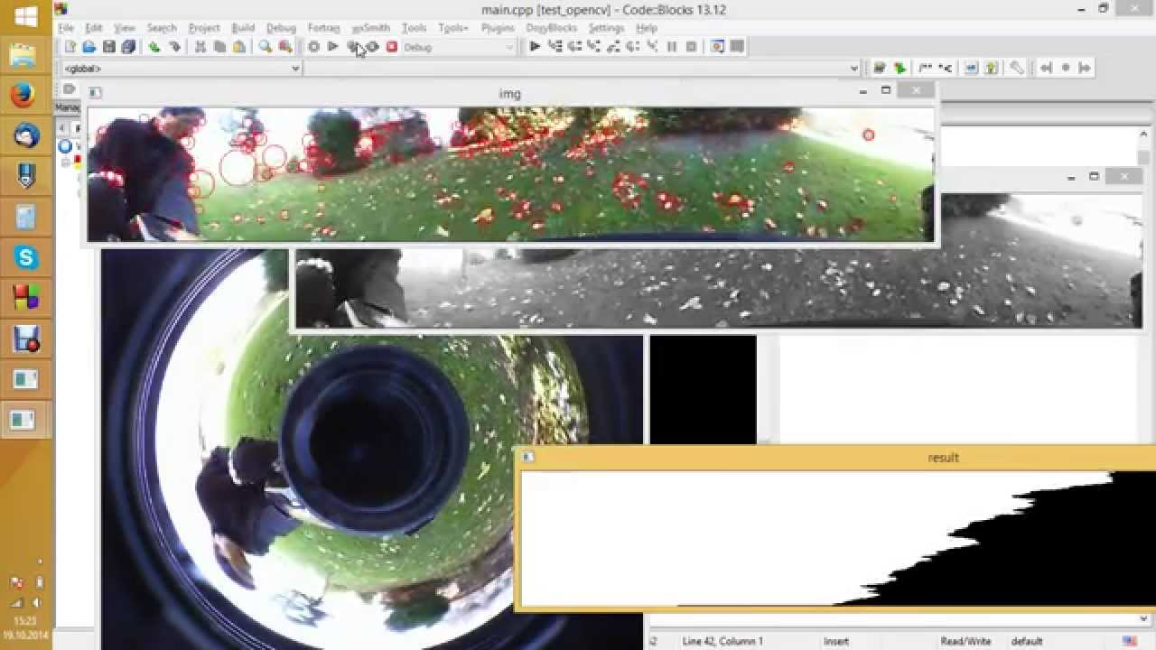 OpenCV, 360 degree camera, feature points (1)