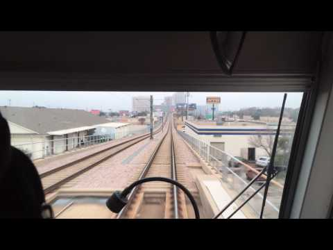 Riding Dallas Light Rail From LBJ Central Station to Pearl/Arts Station