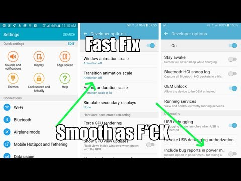 Fix Samsung Phones Lag in just 5 MINUTES !!! | Works on (Galaxy S6, S7, S8)