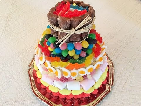 recette g teau de bonbons how to make a candy cake youtube. Black Bedroom Furniture Sets. Home Design Ideas