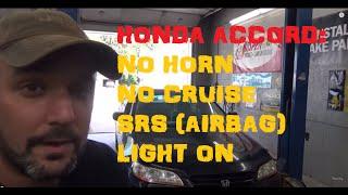 Honda Accord: No Horn, No Cruise, Air Bag Light On