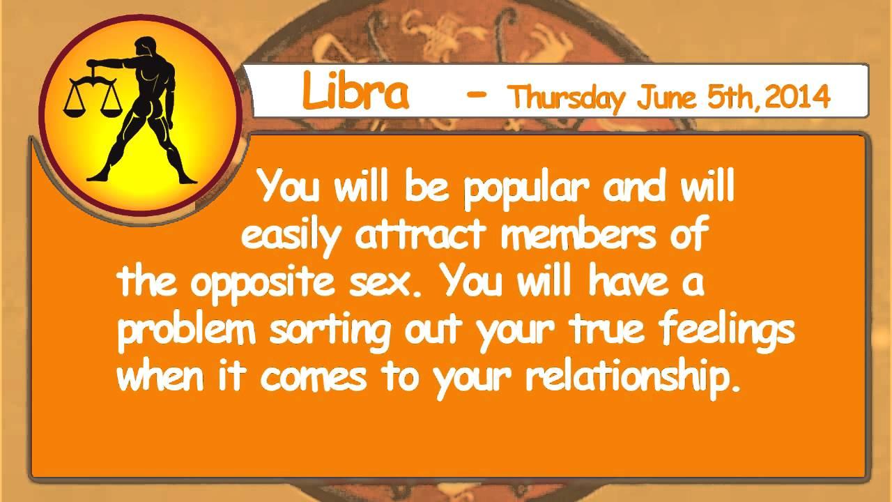 Libra - 5th June 2014 Daily Horoscope
