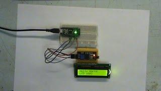 обзор и тест LCD 1602 дисплея и I2C модуля для Arduino
