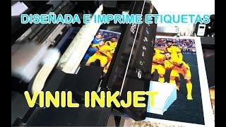 Vinil adhesivo IMPRIMIBLE para impresoras INKJET