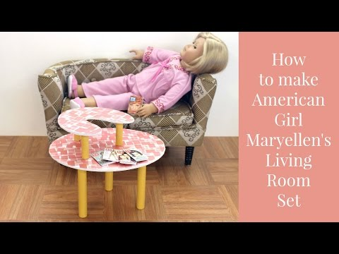 DIY American Girl Doll Maryellen's Living Room Set