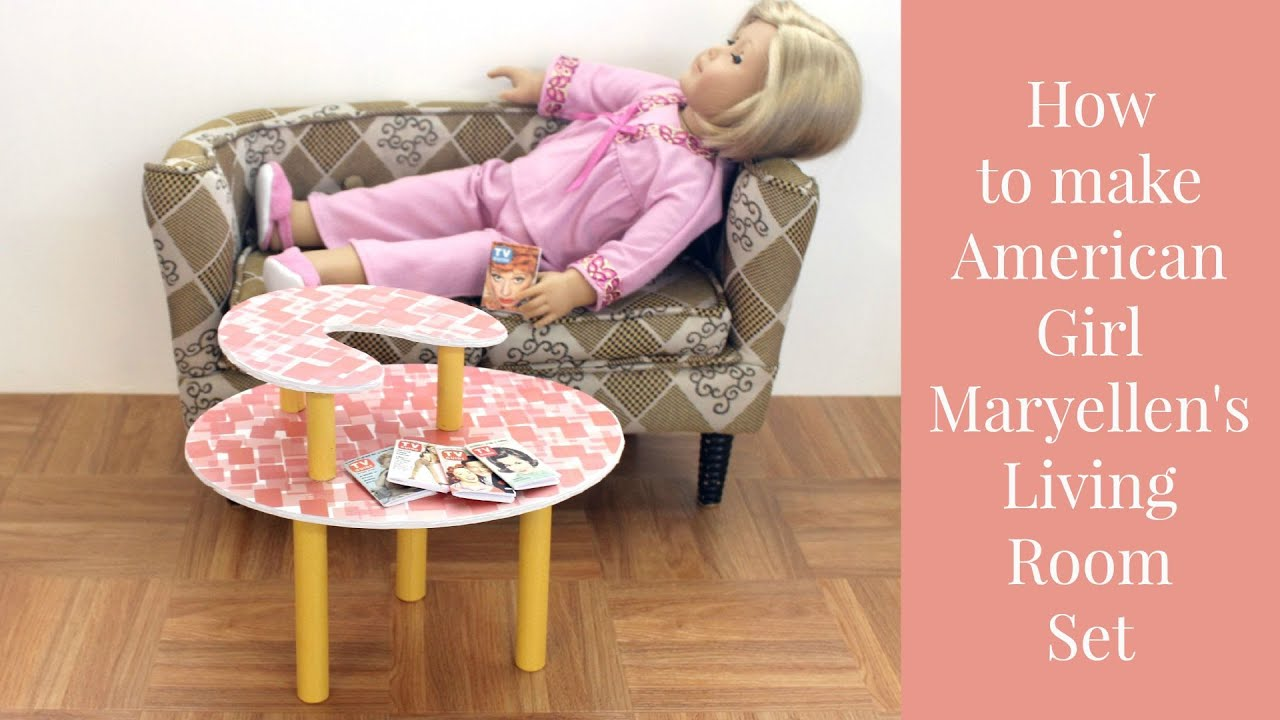 DIY American Girl Doll Maryellens Living Room Set