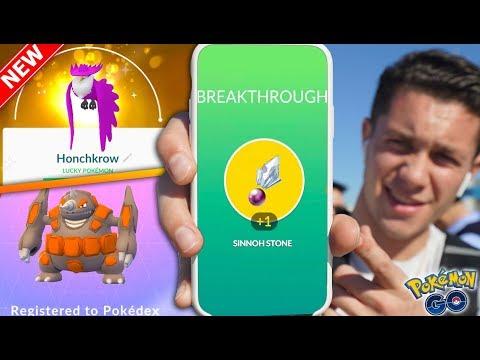 """HOW TO GET NEW """"SINNOH STONE"""" in Pokémon GO + NEW GENERATION 4 EVOLUTION POKÉMON!"""
