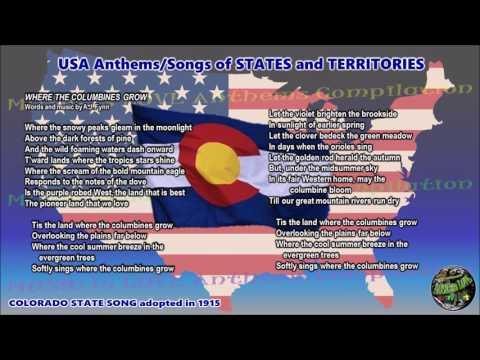 Colorado State Song WHERE THE COLUMBINES GROW with vocal and lyrics