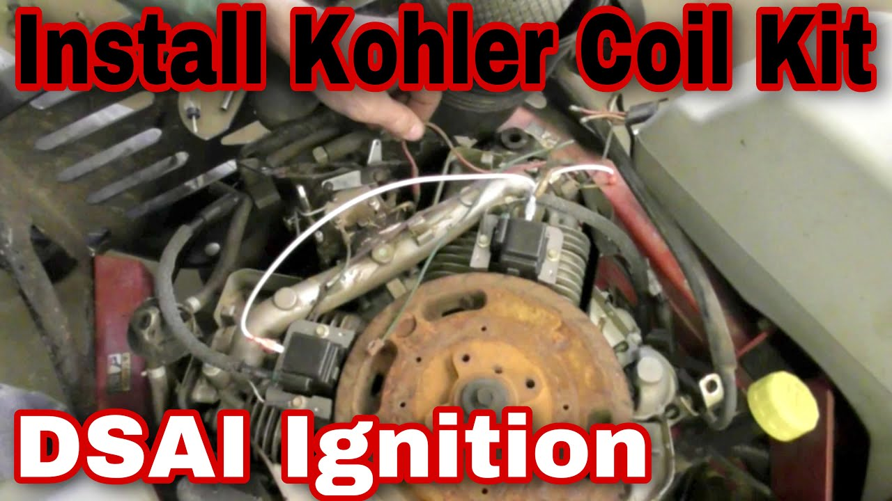 How To Install The Coil Kit On A Kohler Command Engine (DSAI Ignition) with Taryl  YouTube