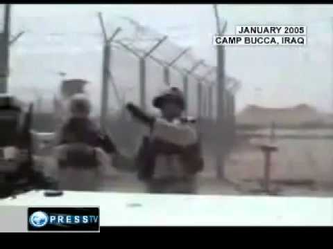 GB,UN,ONZ,FRANCE,ISRAEL, US WAR CRIMES - US Soldiers shooting live rounds at Iraqi prisoners.