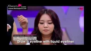 [Eng] GET IT BEAITY KARA Han Seungyeon Asian eye makeup tutorial