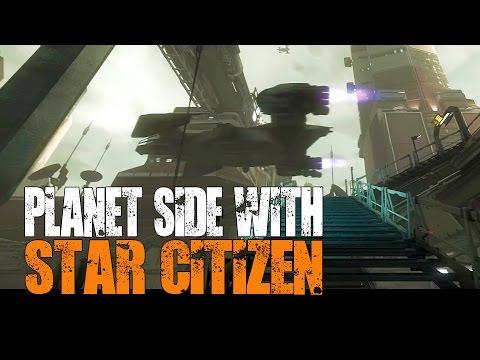 Star Citizen - Planet Side Social Module in 21:9 Super Widescreen