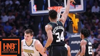Denver Nuggets vs Milwaukee Bucks Full Game Highlights / April 1 / 2017-18 NBA Season