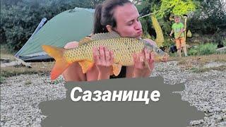 Рыбалка на озере Абрау- Дюрсо в июле
