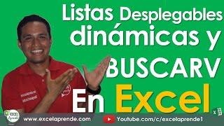 Listas desplegables dinámicas y BUSCARV en Excel   Excel Aprende