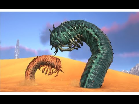 Deathworm VS Iceworm And Iceworm Queen || ARK: Survival Evolved || Cantex