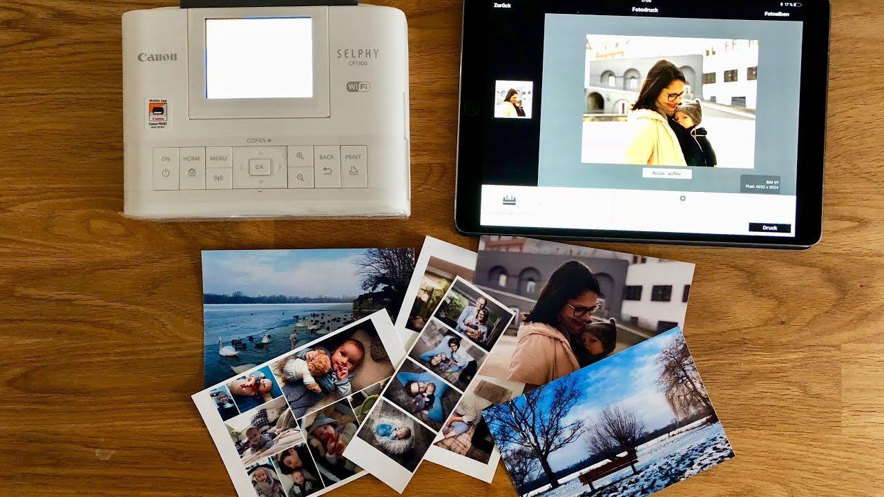 Canon Selphy Cp1300 Fotodrucker Test Erfahrungsbericht Youtube