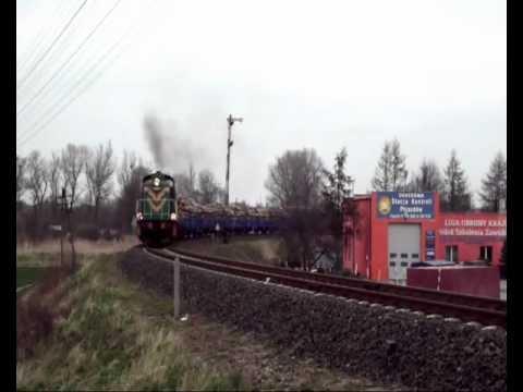 SM42-918 z poci�giem zdawczym opuszcza Gryfice i udaje si� do Goleniowa Gryfice 11.04.2012